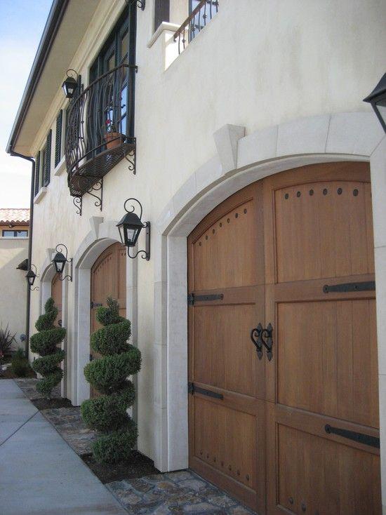 Mediterranean garage and shed design pictures remodel for Mediterranean garage doors