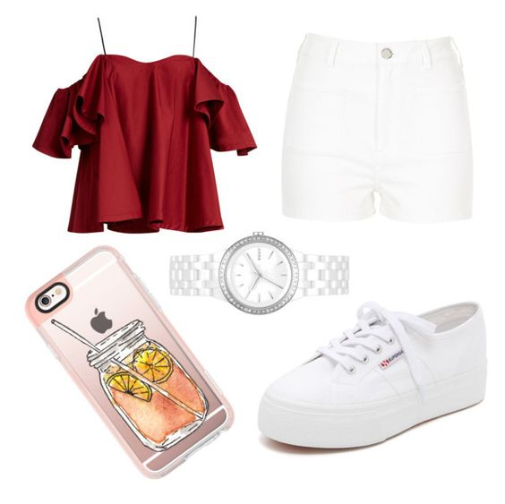 """🌹"" by jahyrab on Polyvore featuring Superga, Anna October, River Island, Casetify and DKNY"