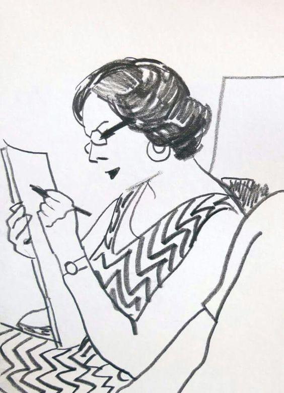 Maria Zaikina - woman drawing