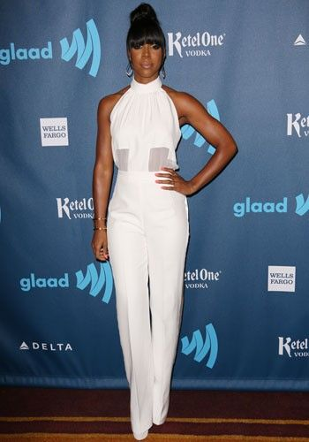 Kelly Rowland - white jumpsuit. | dream closet | Pinterest ...