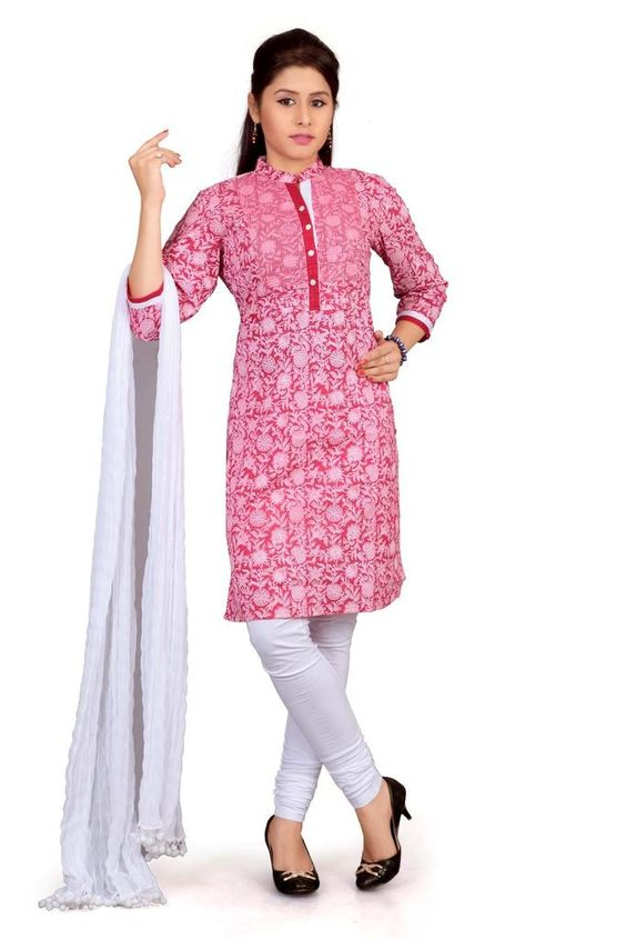 """New Kurti Brand """"Cotton Culture"""" in India http://www.cottonculture.co.in/product/vespa-jaipuri-011-34-red-and-white"""