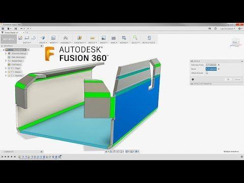 Take Sheet Metal To The Next Level Fusion 360 Tutorial Larslive 135 Youtube Fusion Sheet Metal Cool Websites