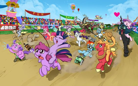 This is totally ponified chariot racing.