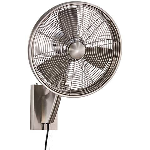 15 Minka Aire Anywhere Brushed Nickel Outdoor Wall Fan 22f83 Lamps Plus With Images Wall Mounted Fan Outdoor Wall Fan Wall Fans