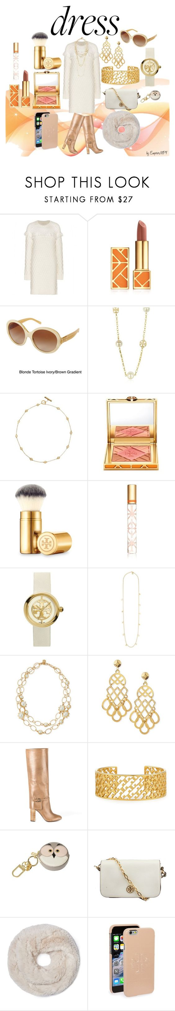 """""""Tory Burch Sweater Dress"""" by emperormpf on Polyvore featuring Tory Burch"""
