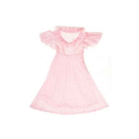 Candyfloss Pink Frill Trim Dress 60s ❤ liked on Polyvore featuring dresses, 60s dresses, frill dress, lined dress, pink skater skirt, pink circle skirt and pink ruffle dress