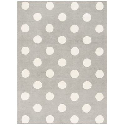 Gray White Dots Kids Rug With Images Kids Rugs Kids Area
