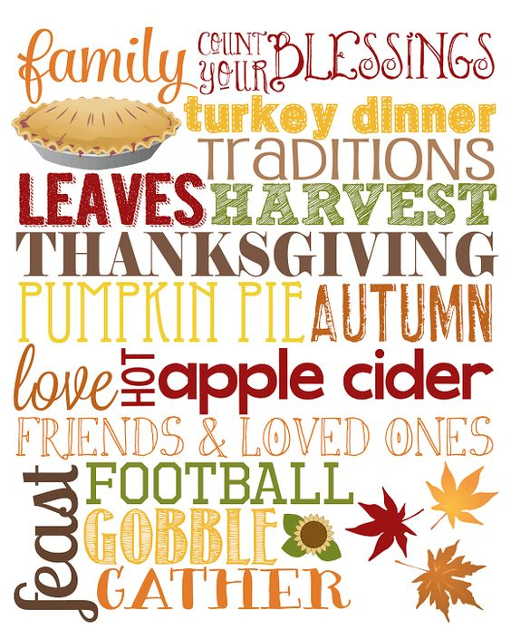 Free Thanksgiving Subway Art - Our Knight Life (Free Printable) #printable #free #thanksgiv: