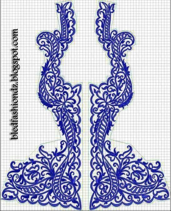 La Mode Algérienne: Motifs Karakou 9 motifs