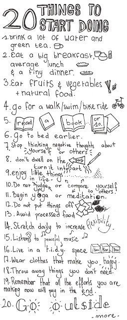 20 things to help you have a happy healthy life!   Find out more ways for a happy healthy life: www.smilingmind.com.au