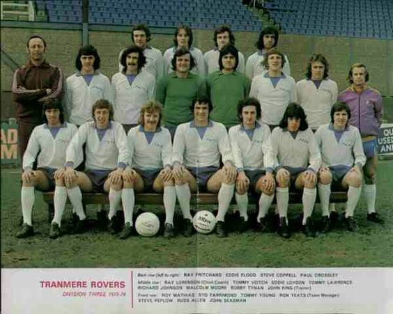 Tranmere Rovers team group in 1973-74.