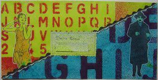 Yvonnes ART - altered envelope - mailart