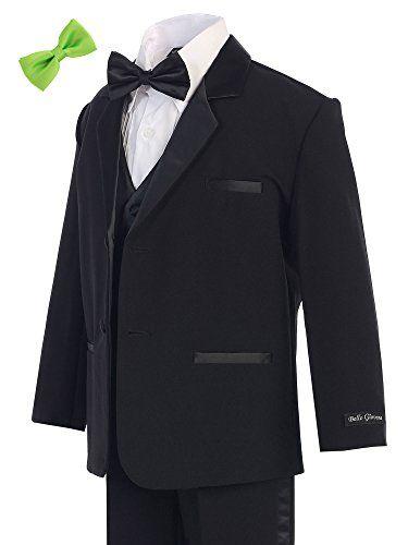 Bello Giovane Boys Black Tuxedo No Tail 6 Piece Set 2T-7 (Pick Free Bow Tie) (3T, Apple Green) Bello Giovane http://www.amazon.com/dp/B0192HTJEY/ref=cm_sw_r_pi_dp_tlPKwb1X2QR4B