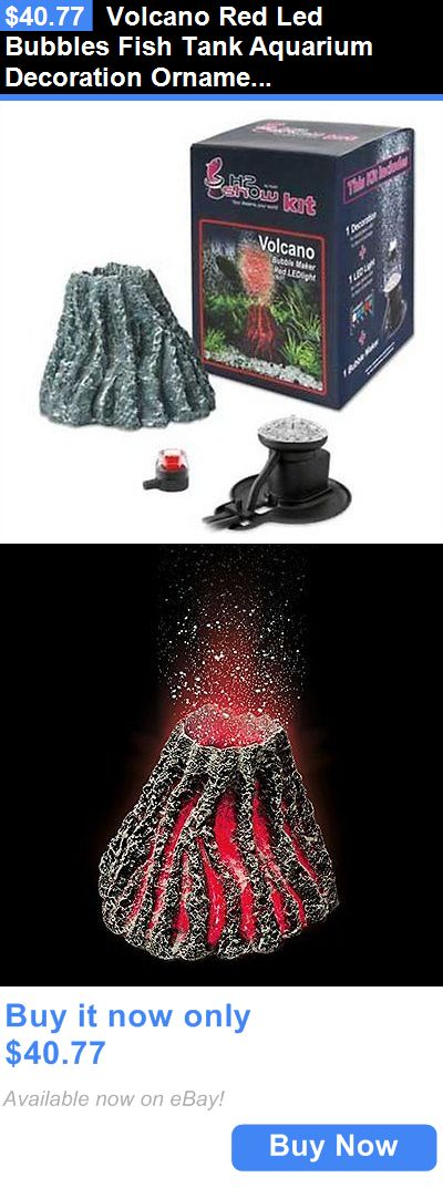 animals fish and aquariums: volcano red led bubbles fish tank, Reel Combo