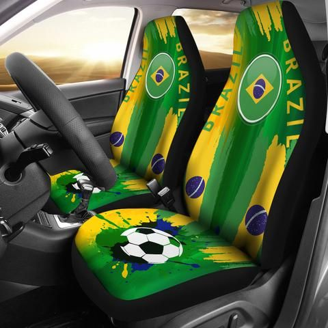 Brazil Soccer Car Seat Cover, Football Car Seat Covers