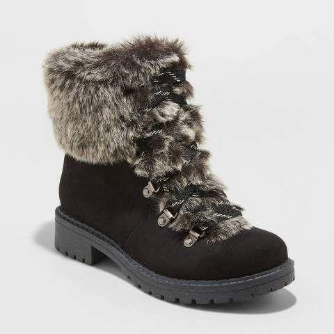 women's lilliana faux fur lace up boots
