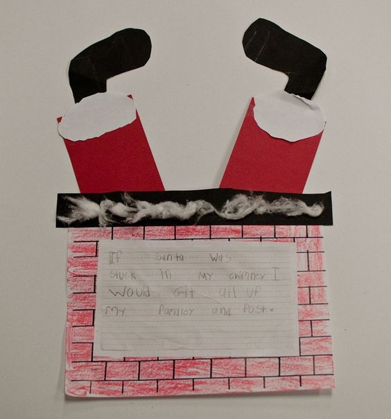 kids write about what they would do if they found Santa stuck in the chimney