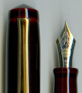 Nakaya Piccolo Aka-Tamenuri (dark reddish-red) Fountain Pen