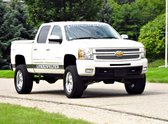 jacked up white chevy trucks - photo #16