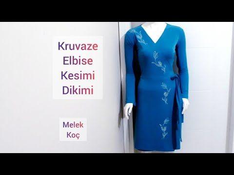 Kruvaze Elbise Kesimi Dikimi Youtube The Dress Elbise Dikis Patronu