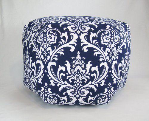 24 Floor Ottoman Pouf Pillow, Navy Blue White Damask by ZB Living, http://www.amazon.com/dp/B00A92MAW0/ref=cm_sw_r_pi_dp_cDamrb1XZ5H9J
