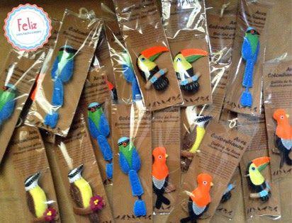 Feliz: Colección Aves colombianas Birds, Felt, handcraft