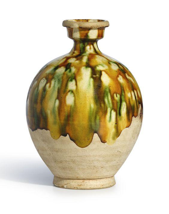 Tang Dynasty Pottery A SANCAI-GLAZED POTTER...
