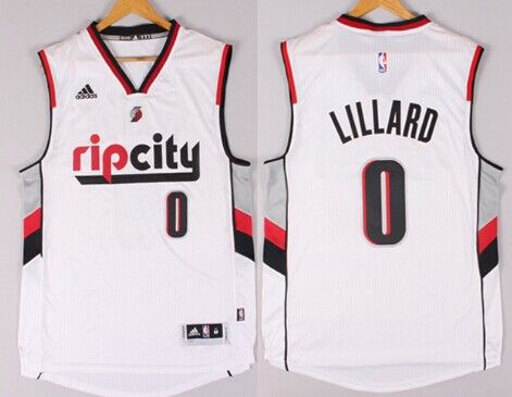 Portland Trail Blazers #0 Damian Lillard Rip City Revolution 30 Swingman 2014 New White Jersey