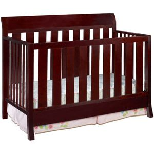 Delta Children's Products Fifth Avenue Sleigh 4-in-1 Fixed-Side Crib, Espresso Java