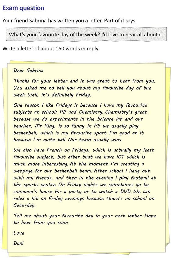 A letter to a friend | LearnEnglishTeens | IELTS WRITING ...