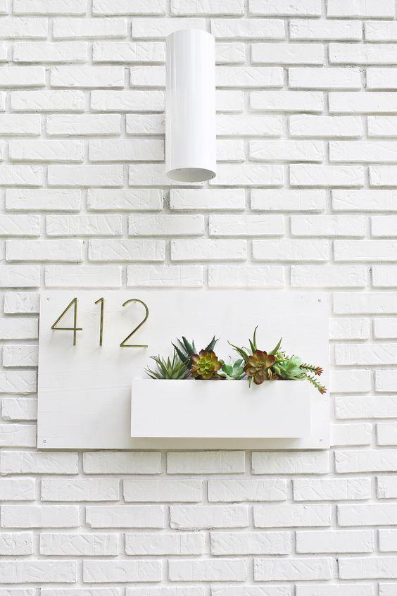 Modern House Number Planter | A Beautiful Mess | Bloglovin'
