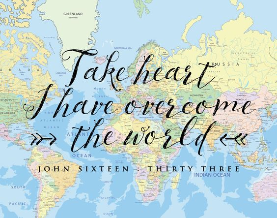 Take heart I have overcome the world. John 16:33  Death has been defeated because Jesus came to save the world from sin. This doesn't mean that this earth doesn't have suffering. However, have peace in knowing that the trials are temporary and will prepare us for an eternal life with the Lord. #takeheart