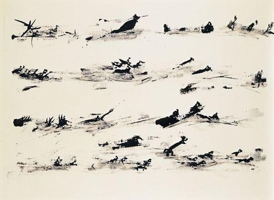 Henri Michaux, Sans titre, 1961, encre de Chine sur papier, 50 x 65 cm (galerie van de Loo Projekte) #henrimichaux #art