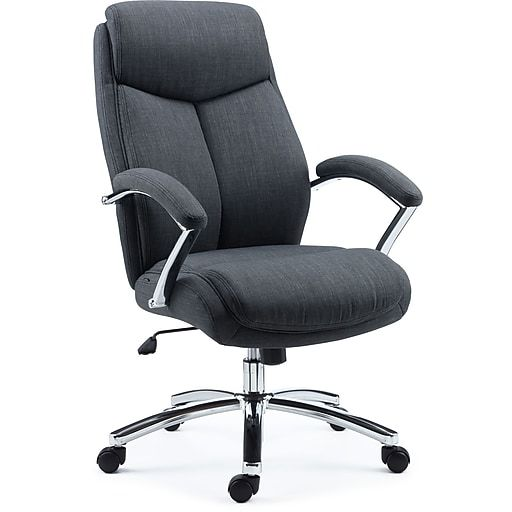 Staples Fayston Fabric Home Office Chair Charcoal Stylish Office Chairs Home Office Chairs Comfy Office Chair