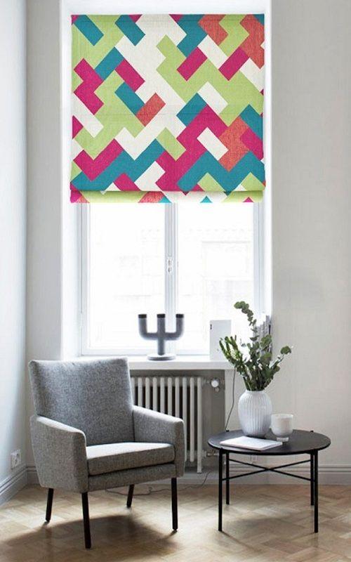 Quick Fix Washable Roman Window Shades Flat Fold Glorious Colors