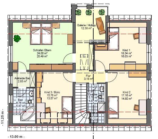 kowalski haus einfamilienhaus mit einliegerwohnung celine 200 grundriss og traumh user. Black Bedroom Furniture Sets. Home Design Ideas