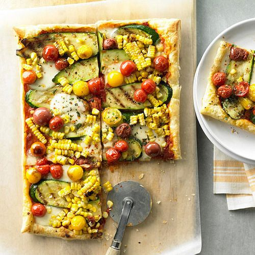 Daily Dish: Our Garden Vegetable Tart is topped with tasty summer vegetables. Get more Daily Dish recipes here: http://bhgfood.tumblr.com/