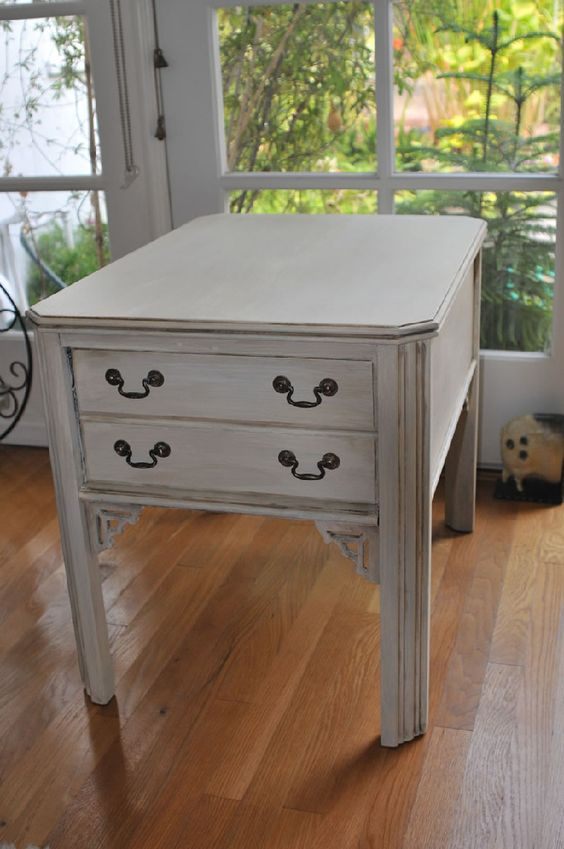 shabby side table - sold