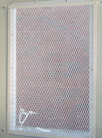 Expanded metal mesh window grille for door window security for Mesh for windows and doors