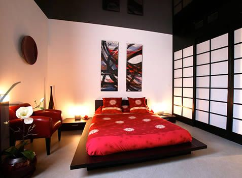 chambre japon d co asie pinterest. Black Bedroom Furniture Sets. Home Design Ideas