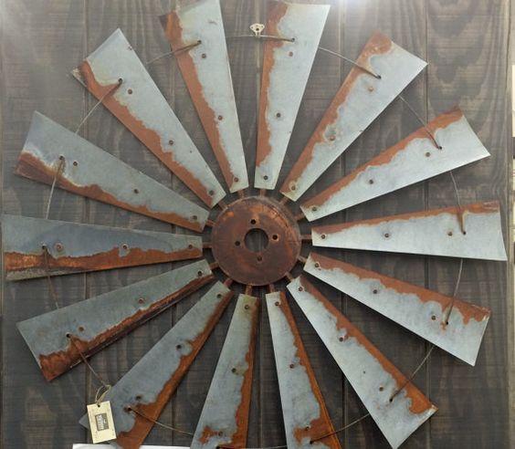 Gifts For A Farmhouse Decor Fan: Farmhouse Windmill Metal Wall Decor 47 Inch Large -- Makes