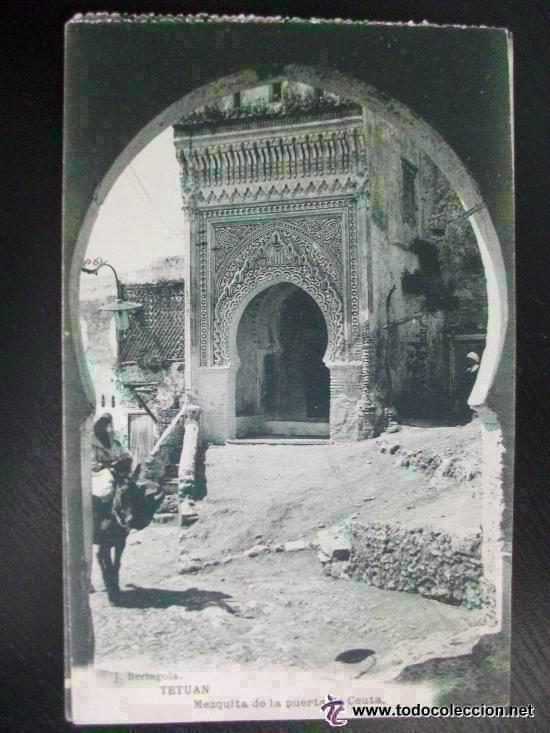 POSTAL DE TETUAN : MEZQUITA DE LA PUERTA DE CEUTA . ESCRITA POR MILITAR DE SANIDAD EN 1922.. - Foto 1
