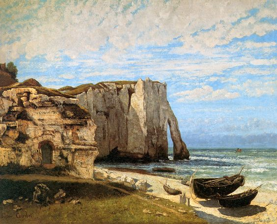 The Cliffs at Etretat, 1869 Gustave Courbet