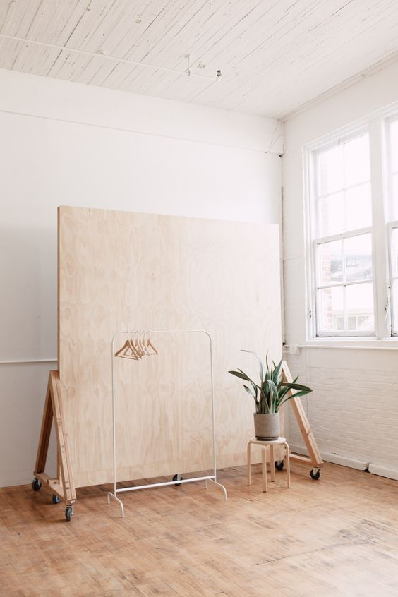 Our new plywood backdrop wall! The Portland Studio is in Portland, Oregon and available for hourly rentals seven days a week.