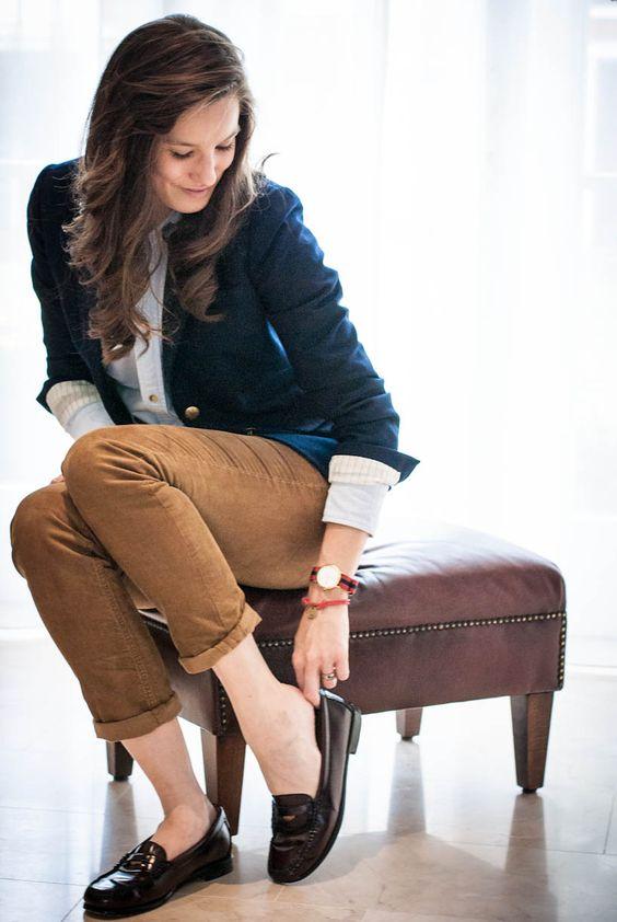 Bass Weejuns. Penny loafers. American Sportswear. myfavoritefit.com