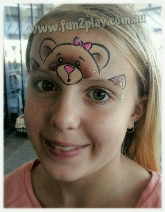 Bear Face Painting Ideas