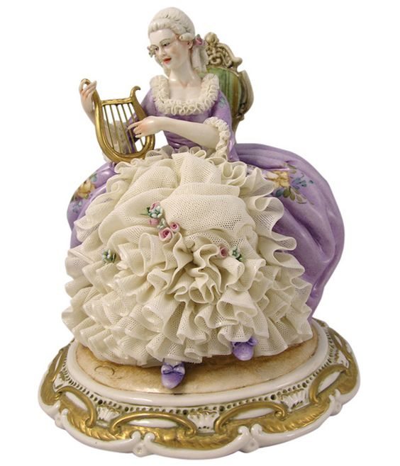 Dresden Lace Figurine: