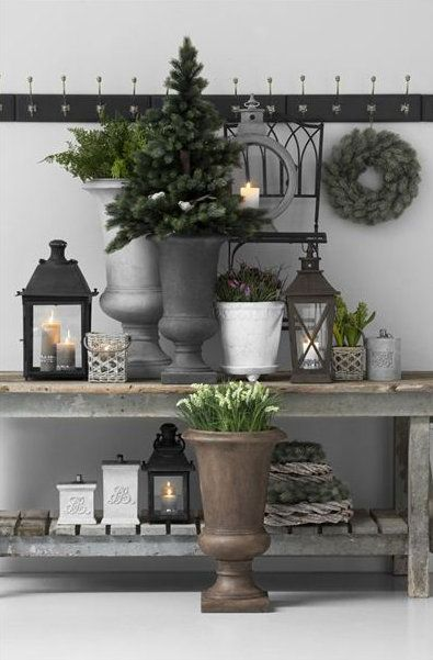 Home decor ideas post holiday winter decorating for your home idee n voor het huis - Outdoor deco huis ...