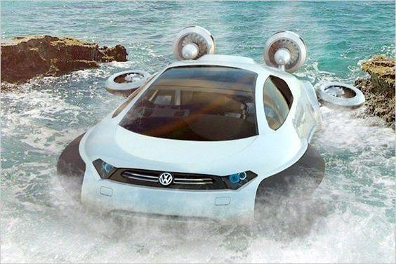 Volkswagen AQUA Может перемещаться по земле, воде и льду