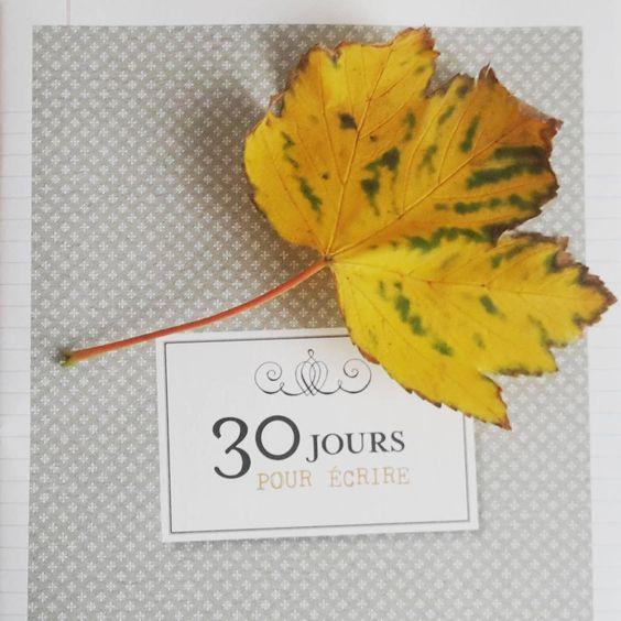 Et si je commençais aujourd'hui ? ✒ #cahier #ecriture #flow #feuille #leaf #fall #automne #projet #flowmagazine #flowleaf2015